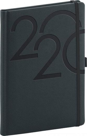 Diář 2020 - Ajax - denní, antracitový, 15 × 21 cm