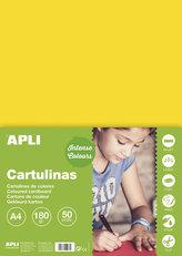 Barevný papír A4 170 g - žlutý 50 ks