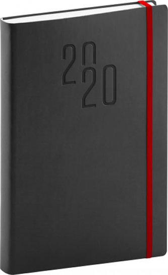 Diář 2020 -  Soft - denní, černý, 15 × 21 cm