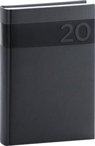Diář 2020 - Aprint - denní, černý, 15 × 21 cm