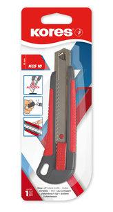 Kores Odlamovací nůž KCS 18 mm, šedo - červený