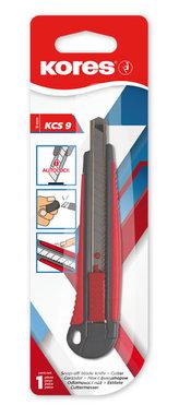 Kores Odlamovací nůž KCS 9 mm, šedo - červený