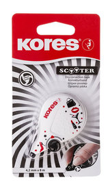 Kores SCOOTER BLACK WHITE, mix 4,2 mm x 8 m