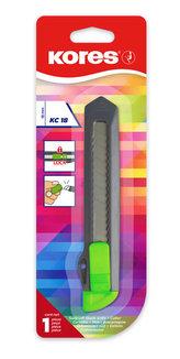 Kores Odlamovací nůž KC 18 mm, mix 4 neonových barev