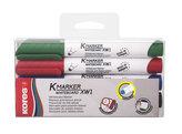 Kores K-MARKER Popisovač na bílé tabule a flip charty, kulatý hrot 3 mm, mix 4 barev