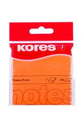 Kores Samolepicí bločky 75x75 - oranžové