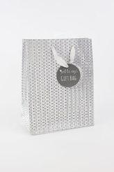 Taška medium Glitter stříbrná