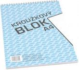 Blok s horní vazbou A4, čistý, 50 listů