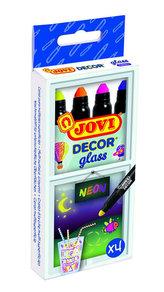 JOVI DECOR GLASS fixy 4 ks neón