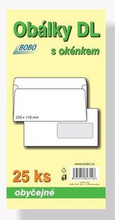 Obálky DL obyčejné s okénkem (bal.25ks)