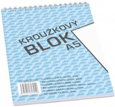 Blok s horní vazbou A5, čistý, 50 listů