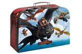 Kufřík dětský školní papírový Dragons vel.25cm
