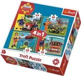 Puzzle Požárník Sam v akci 4v1