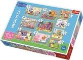 Puzzle Prasátko Peppa 10v1