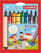 STABILO Trio Scribbi 8 ks Pouzdro