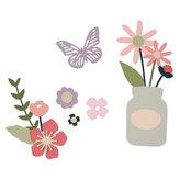 SIZZIX Thinlits vyřezávací  kovové šablony - zahradní květy 17 ks