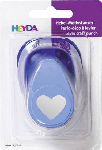 HEYDA ozdobná děrovačka velikost L - srdce 2,5 cm