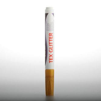 DARWI TEX GLITTER fixa na textil - Zlatá 6 ml