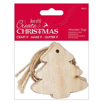 DOCRAFTS dřevěné dekorace - vánoční stormečky 4 ks