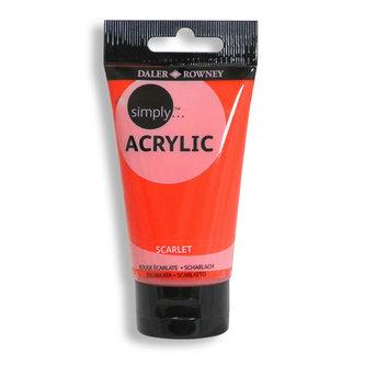Daler - Rowney SIMPLY akrylová barva - Scarlet 75 ml