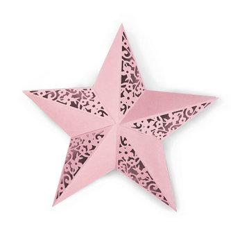 SIZZIX Thinlits vyřezávací  kovové šablony - hvězda na složení 2 ks