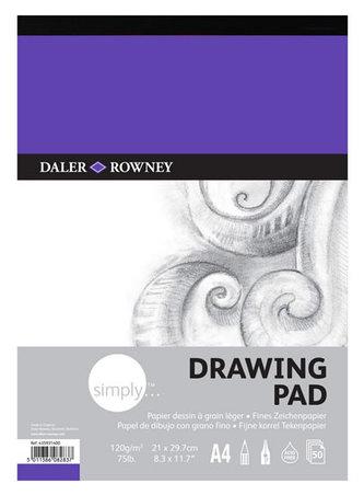 Daler - Rowney SIMPLY skicák na kreslení  A4, 120 g / m2, 50 listů
