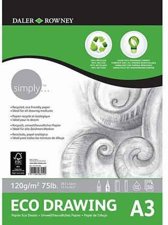 Daler - Rowney SIMPLY skicák ECO kreslení  A3, 120 g / m2, 50 listů