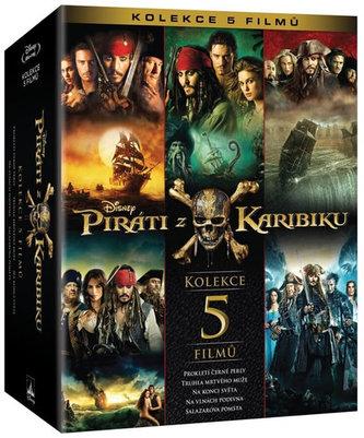 Piráti z Karibiku kolekce 1.-5. 5BD
