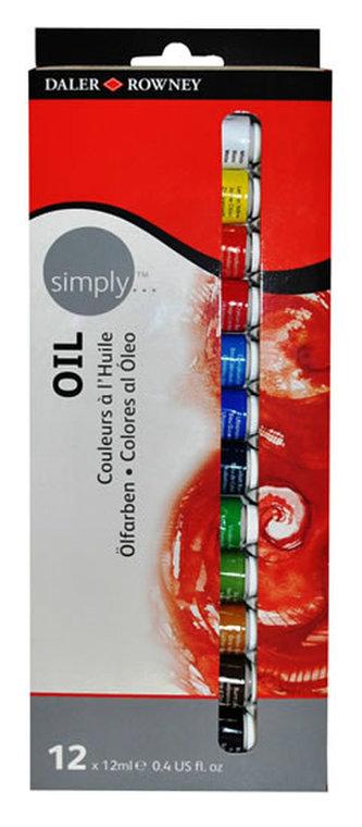Daler - Rowney SIMPLY sada olejových barev 12x 12 ml
