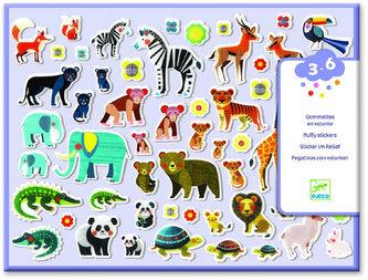 Djeco Set plastických samolepek zvířecí rodinky