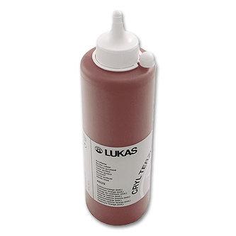 LUKAS akrylová barva TERZIA - Burnt sienna 500 ml
