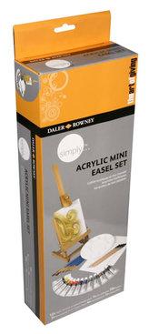 Daler - Rowney SIMPLY kreativní akrylová sada se stojanem 43 dílná
