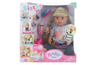 Starší sestřička BABY born Soft Touch blondýnka, 43 cm