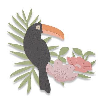 SIZZIX Thinlist vyřezávací  kovové šablony - tropický pták