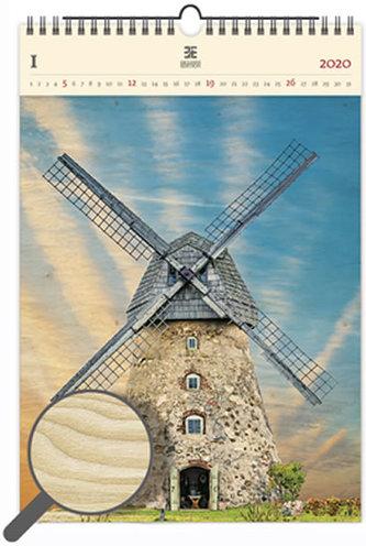 Kalendář nástěnný dřevěný 2020 - Windmill