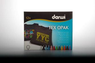 DARWI TEX OPAK fixy na textil sada 12 x 6 ml