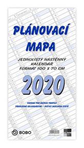 Plánovací roční mapa B1 skládaná - nástěnný kalendář 2020