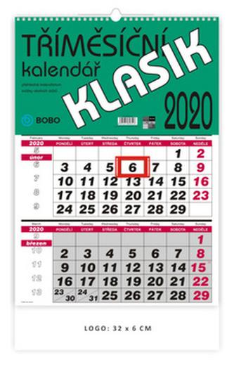 Nástěnný tříměsíční Klasik - nástěnný kalendář 2020