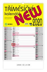 Nástěnný tříměsíční kalendář New - nástěnný kalendář 2020