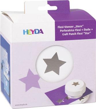 HEYDA ozdobná děrovačka flexi  - hvězda 1,5cm