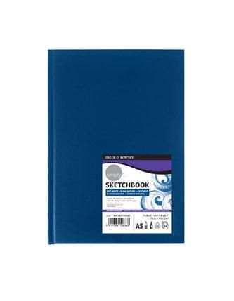 Daler - Rowney SIMPLY BLUE skicák v knižní vazbě A5, extra bílý 100 g / m2, 54 listů