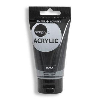 Daler - Rowney SIMPLY akrylová barva - Black 75 ml