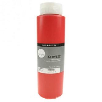 Daler - Rowney SIMPLY akrylová barva - Brilliant Red 750 ml