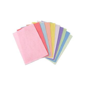 SIZZIX dekorační filc A4 - pastelové barvy 2mm ( 10 ks )
