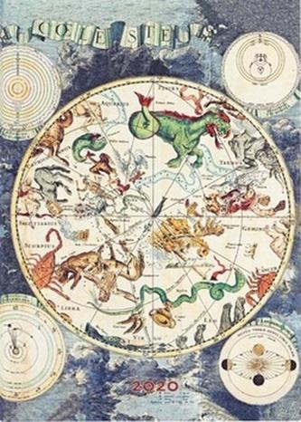 Diář Celestial Planisphere 2020 DAY
