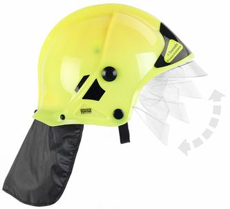 Hasičská helma, žlutá