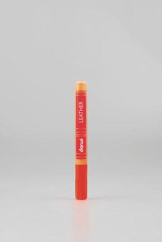 DARWI LEATHER fixy na kůži a koženku - Oranžová 6 ml