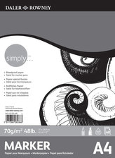 Daler - Rowney SIMPLY MARKER skicák A4, 70 g / m2, 40 listů