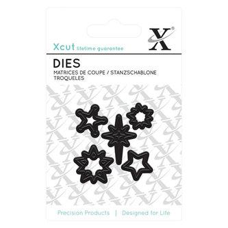 DOCRAFTS Xcut vyřezávací  kovové šablony MINI - hvězdy 5 ks
