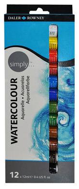 Daler - Rowney SIMPLY sada akvarelových barev 12 x 12 ml